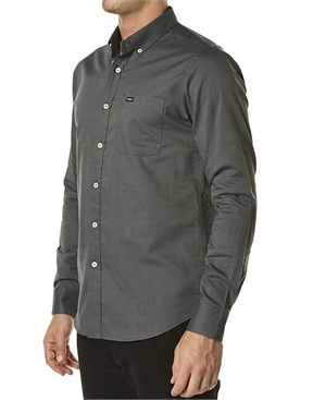 RVCA That'l Do LS Shirt Iron Navy-shirts-HYDRO SURF