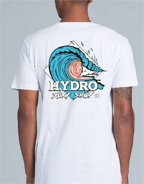 Hydro - Dunedin Barrel Tee - White-mens-HYDRO SURF