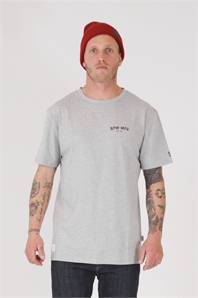 RPM College Tee - Grey Marle-tees-HYDRO SURF