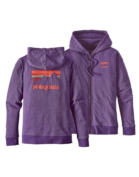 Patagonia Shop Sticker LW Full Zip Hoodie-jumpers-HYDRO SURF