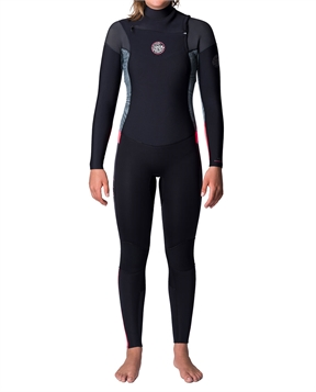 Rip Curl Womens Dawn Patrol 4x3 GB Chest Zip Steamer Wetsuit-women-winter-HYDRO SURF