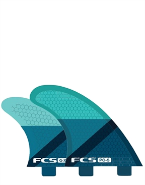 FCS PC-5 Quad Fins - Blue on sale-brand-HYDRO SURF