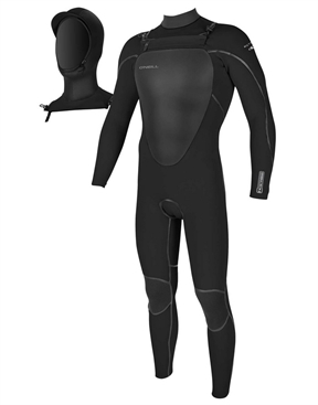 Oneill Mutant 4x3mm Hooded Steamer Wetsuit-men-winter-HYDRO SURF