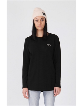 Mia Longsleeved Tee - Black-womens-HYDRO SURF