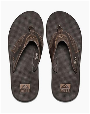 Reef Fanning Pro - Brown Leather-jandels-HYDRO SURF