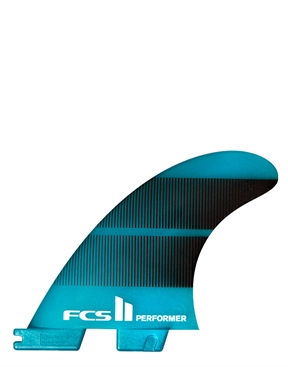 FCS II Performer Neo Glass Tri Fins - Teal-essential-HYDRO SURF