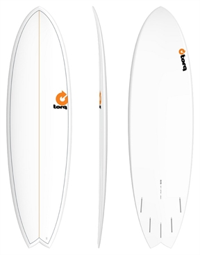 Torq Mod Fish Surfboard Sizes Pinline White-fun-HYDRO SURF