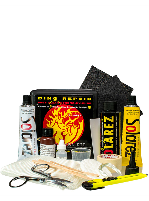 Solarez Polyester Resin UV Cure Surfboard Ding Repair - Pro Travel Kit