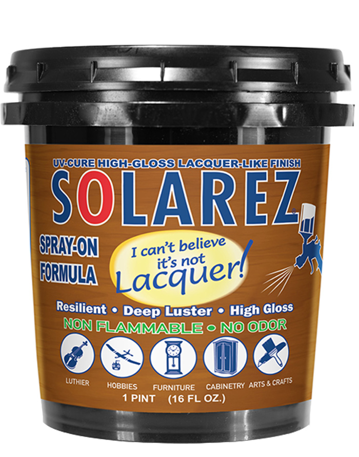 Solarez I Can't Beleive It's Not Laquer Finishing Resin
