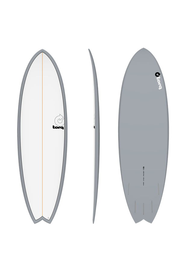 "Torq Mod Fish 7'2"" Surfboard Colour Pinline"