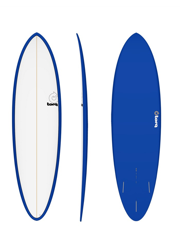 "Torq 6'8"" Mod Fun Surf Board Colour Pinline"