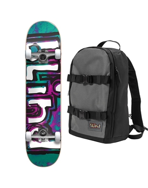 Blind Matte OG WaterColour Skateboard Complete With Promo Backpack-hardware-HYDRO SURF