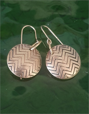 Herringbone Brass Earrings -jewellery-HYDRO SURF