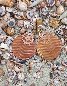 Wave Patterned Copper Earrings-jewellery-HYDRO SURF