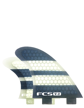 FCS V-2  Quad Fin Set on sale-hardware-HYDRO SURF