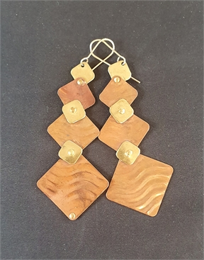 Copper and Brass Earrings, Gold Filled Hooks-accessories-HYDRO SURF