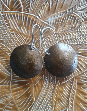 Koru Copper Earrings with SIlver Hooks-jewellery-HYDRO SURF