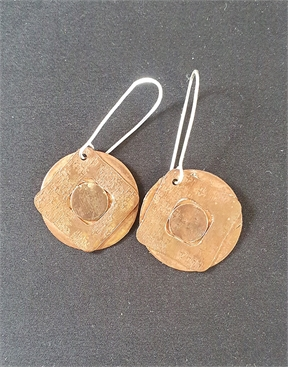 Copper Earrings with Silver Hooks-accessories-HYDRO SURF