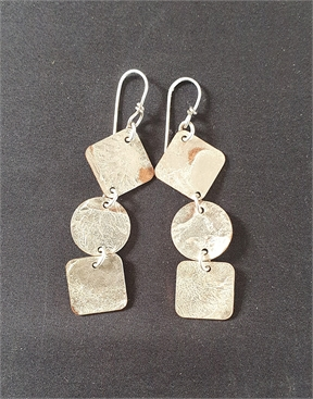 Silver and Copper Earrings with Silver Ear Wires-accessories-HYDRO SURF
