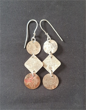 Silver and Copper Earrings-jewellery-HYDRO SURF