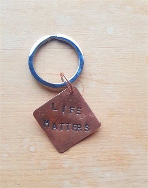 Handmade Copper Keyring Fundraiser for Life Matters Suicide Prevention Trust-keyrings-HYDRO SURF