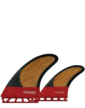 Futures Rob Machado Twin +1 Blackstix Fin Set -twin-fins-HYDRO SURF
